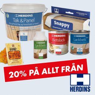 20% på Herdins sortiment